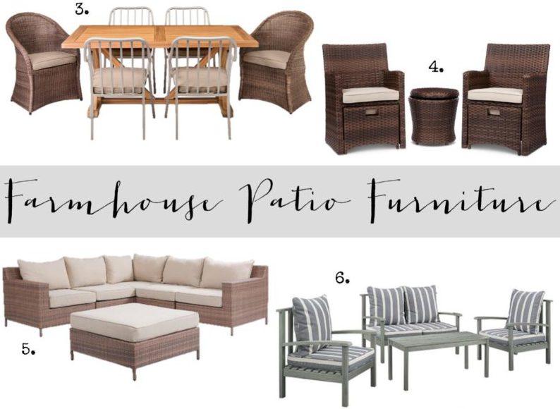 Farmhouse Patio Furniture Finds House of Hargrove