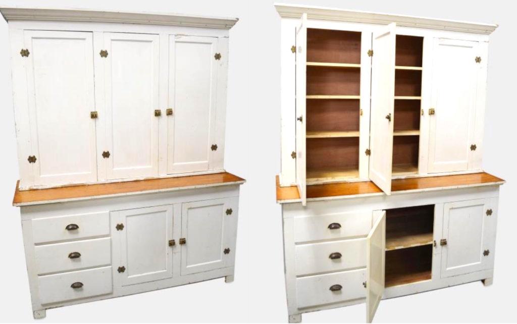 Furniture Finds-Antique Farmhouse Step Back Cabinet