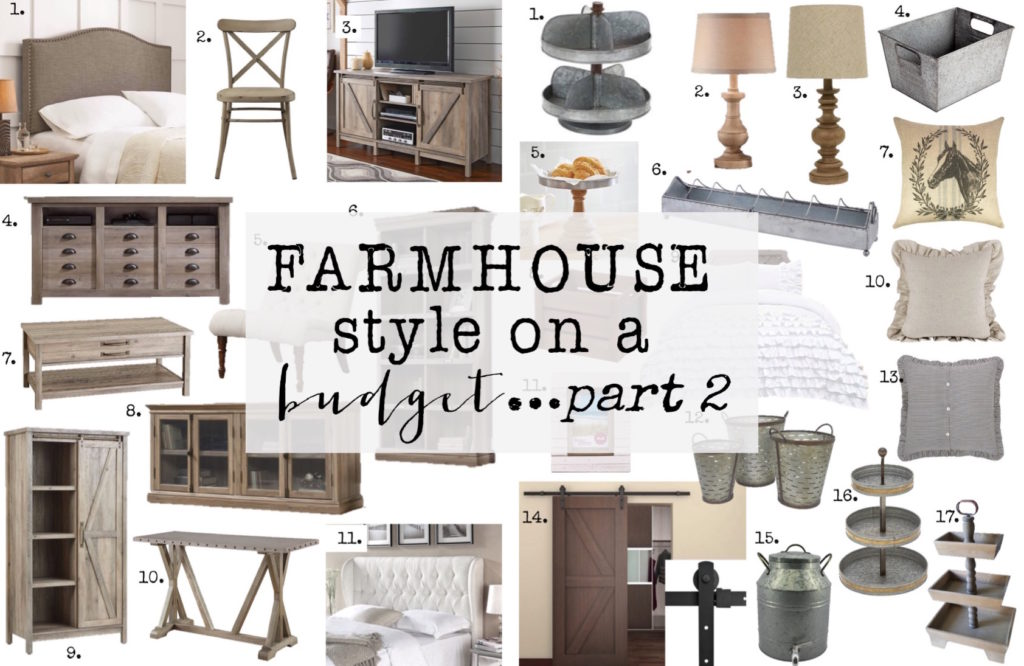 Farmhouse Style on a Budget…part 2