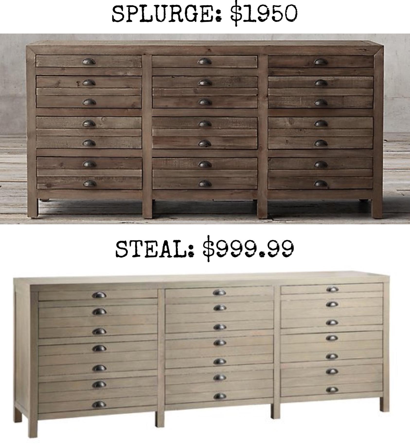 Merveilleux SPLURGE: Printmakers Sideboard $1950
