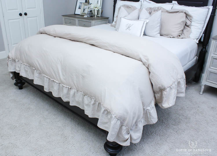 Linen Ruffle Bedding…the look for less!