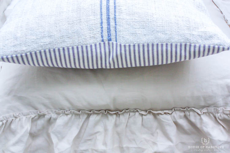 linen ruffle bedding