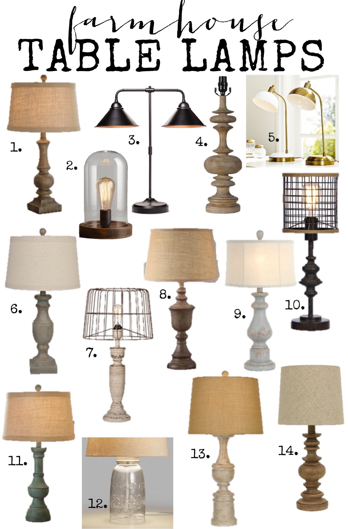 Farmhouse Lamps: Farmhouse Style Table Lamps at Amazing Prices