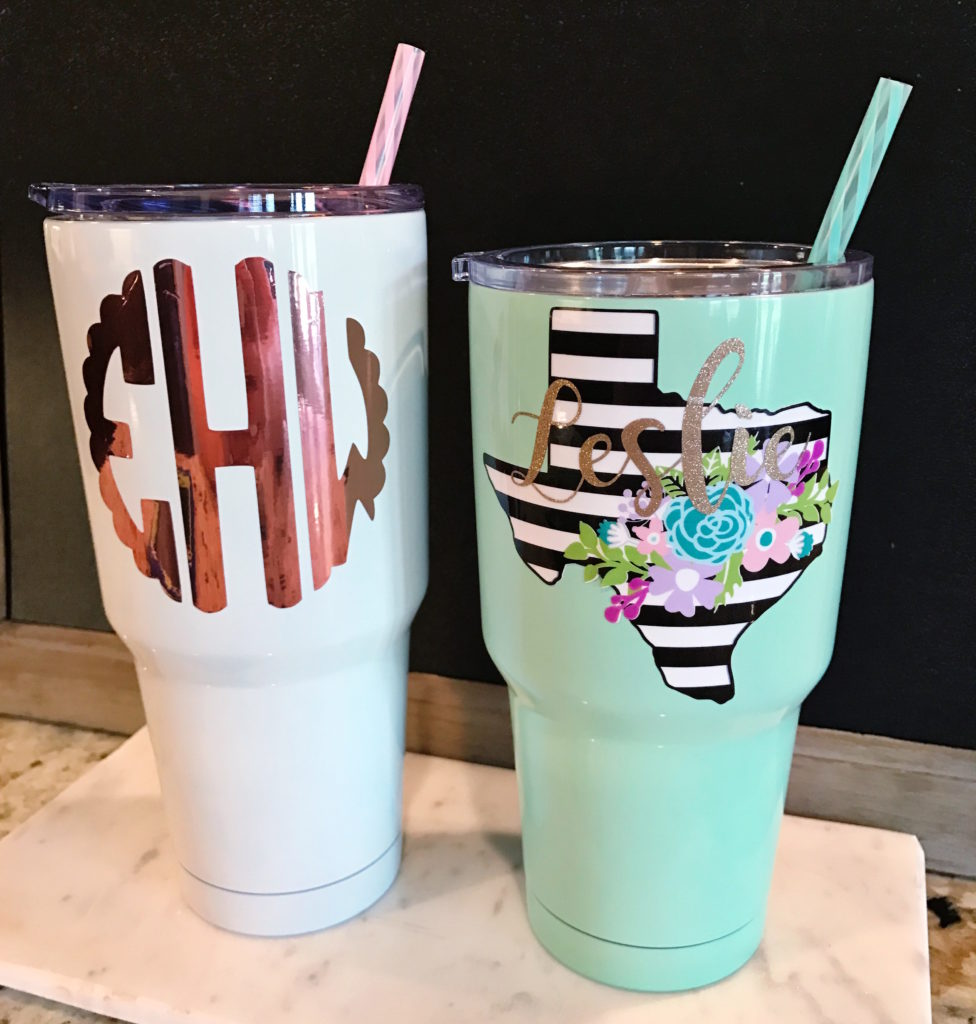 Yeti Tumblers with decals
