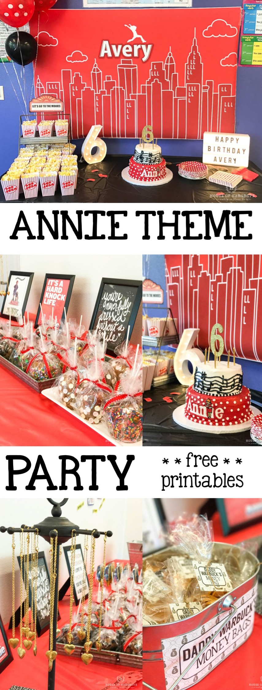 Avery S Annie Themed Birthday Party Lots Of Ideas
