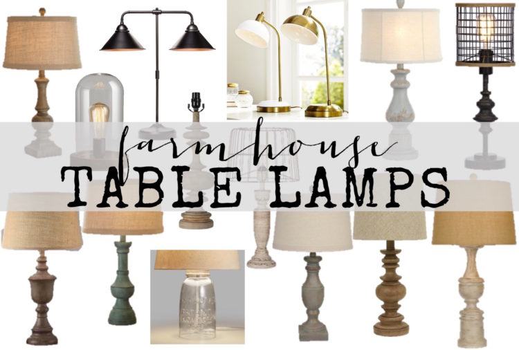 Farmhouse Lamps Farmhouse Style Table Lamps At Amazing Prices
