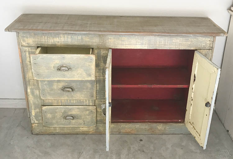 ... I store my DVDs, etc in the drawers. This one is solid, the drawers  pull very smoothly and the hardware is beautiful. Look at those pulls and  hinges :). - One Of A Kind, Antique Farmhouse Furniture: FOR SALE & ON SALE