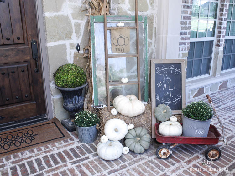 My Vintage Farmhouse Fall Porch