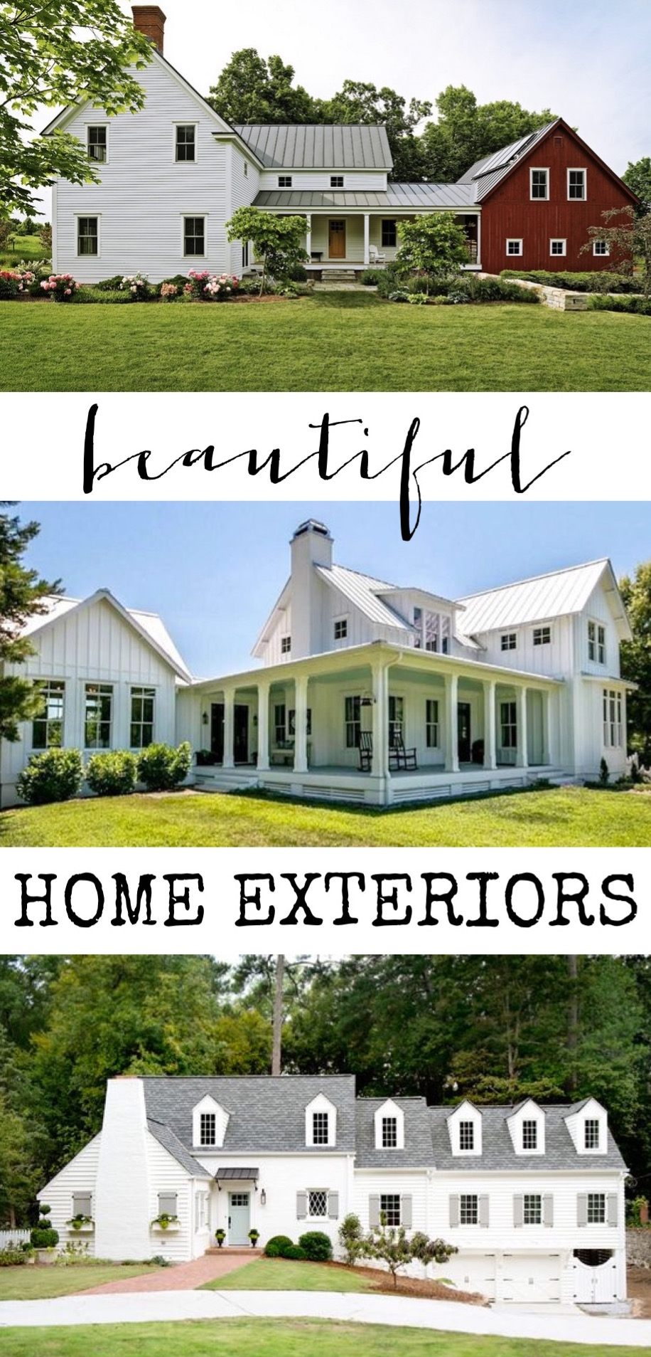 Beautiful home exteriors farmhouses cottages charming for Beautiful home exteriors