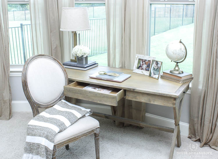 This new bedroom office space is exactly what I needed  I am sitting here  now as I type this post  My husband works out of our other office so this  gives me. My New Bedroom Office  Farmhouse Style  Gold accents   a HUGE SALE