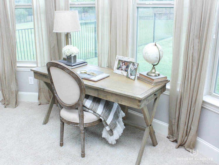 My New Bedroom Office: Farmhouse Style, Gold Accents and a HUGE SALE