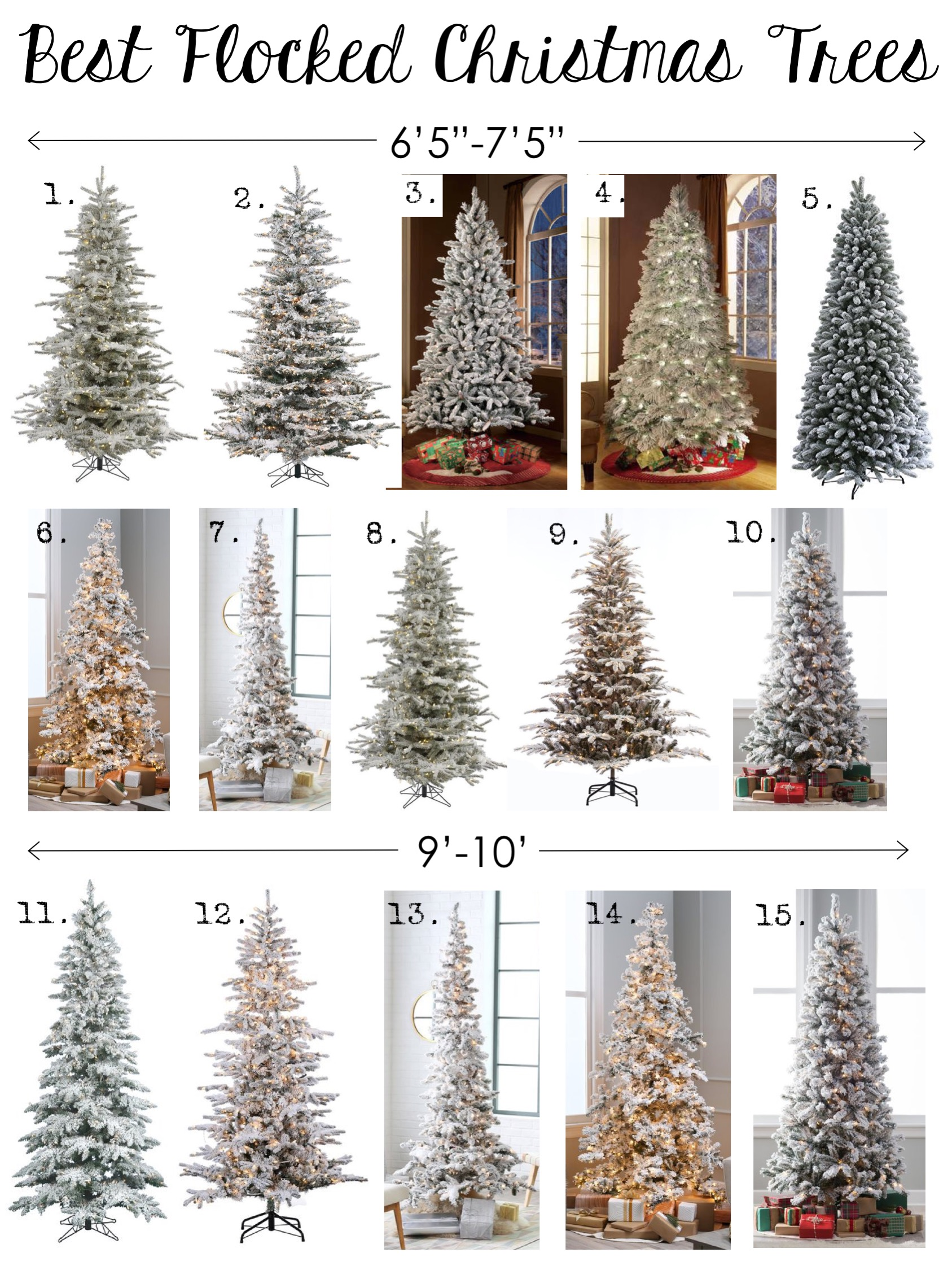 Best Flocked Christmas Trees: Multiple Sizes & Styles