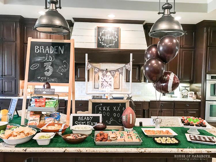 Braden's 3rd Football Birthday Party: #3rddown3rdbirthday