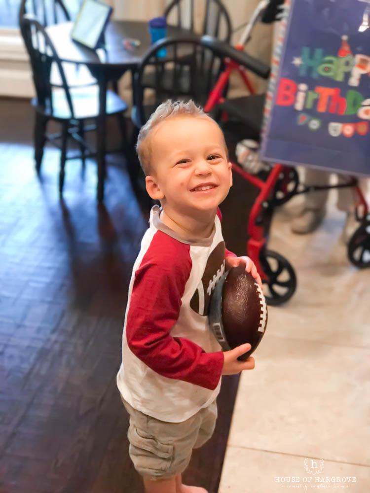 Boy's football 3rd Birthday