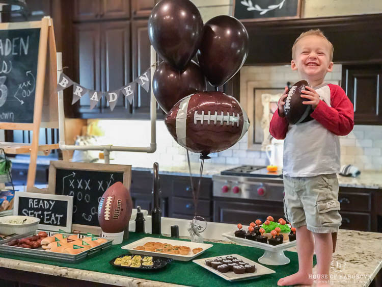 Boy's football 3rd Birthday