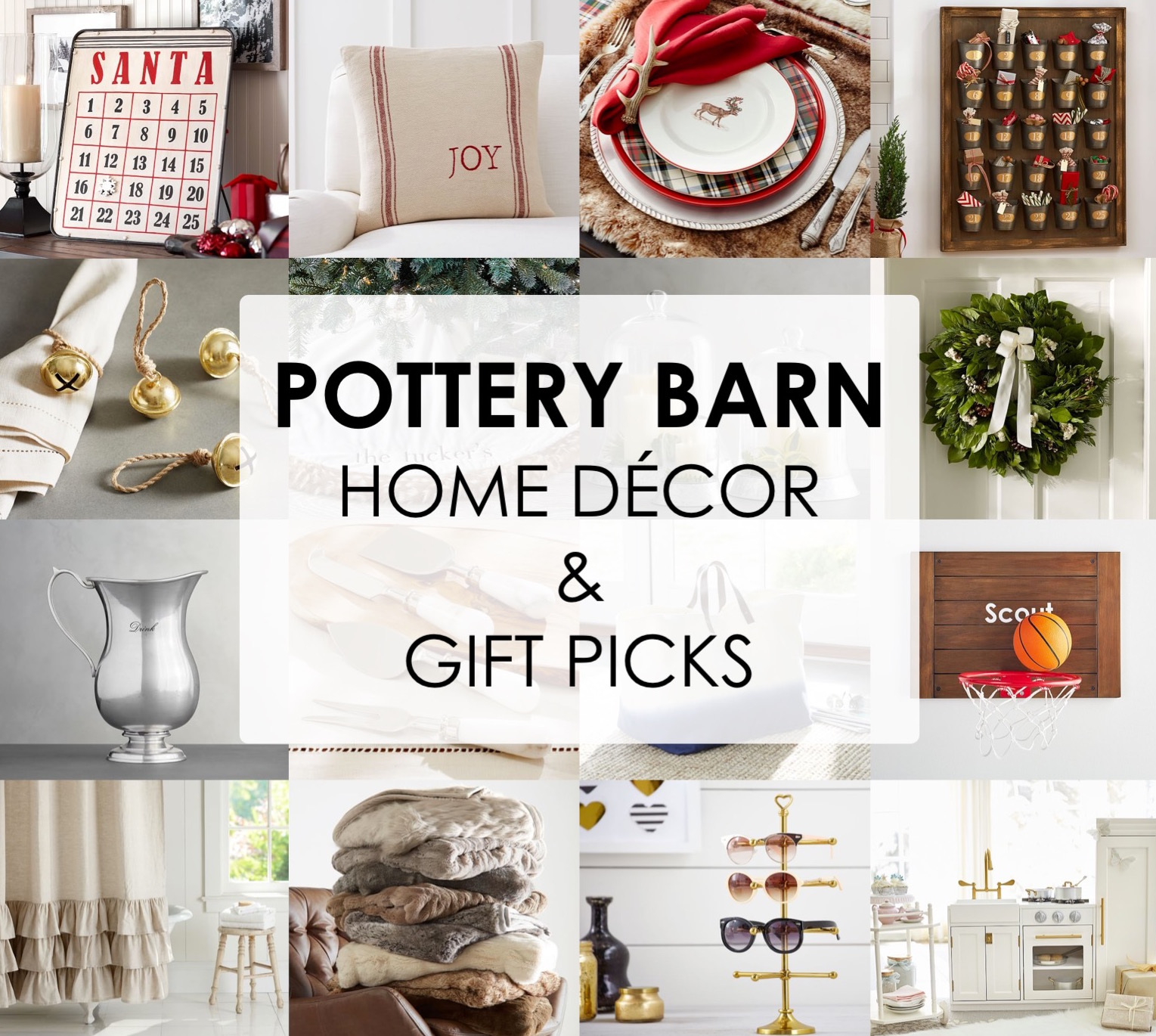 holiday decor gift ideas pottery barn edition