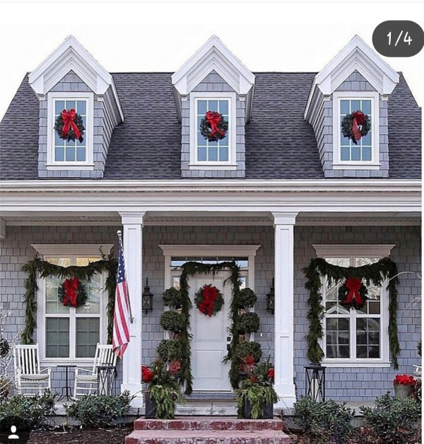 There is no shortage of major inspiration for those Christmas Front Porches here!