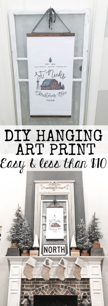 DIY Hanging art print