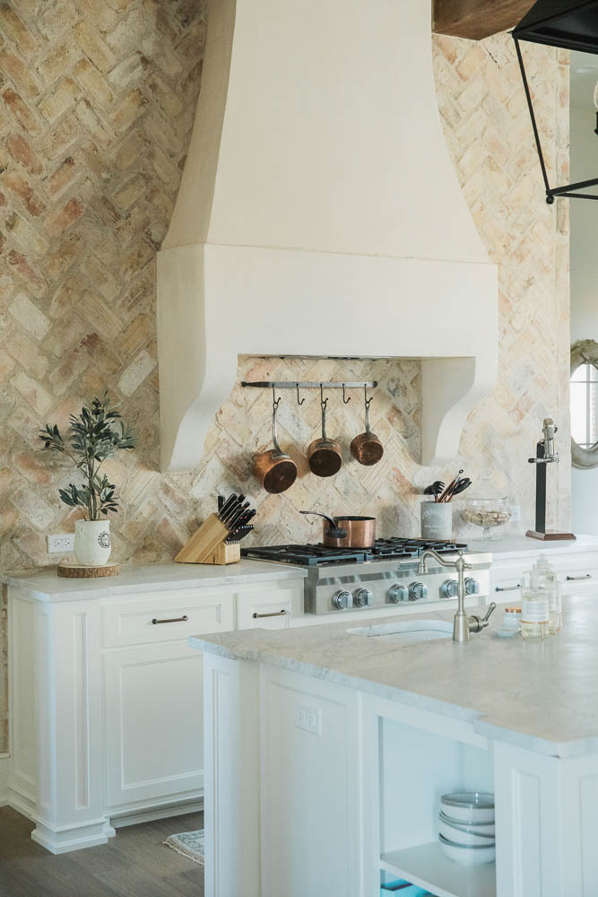French Chateau Home Tour: New Home Mixed with Vintage Elements