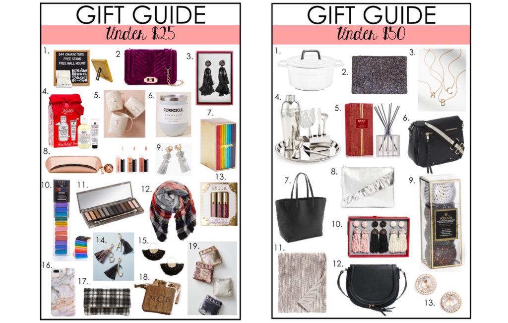 Gift Guide Under $25, Under $50