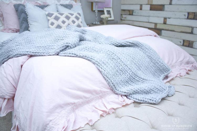 Guest Bedroom Refresh: Blush, Grey & Gold