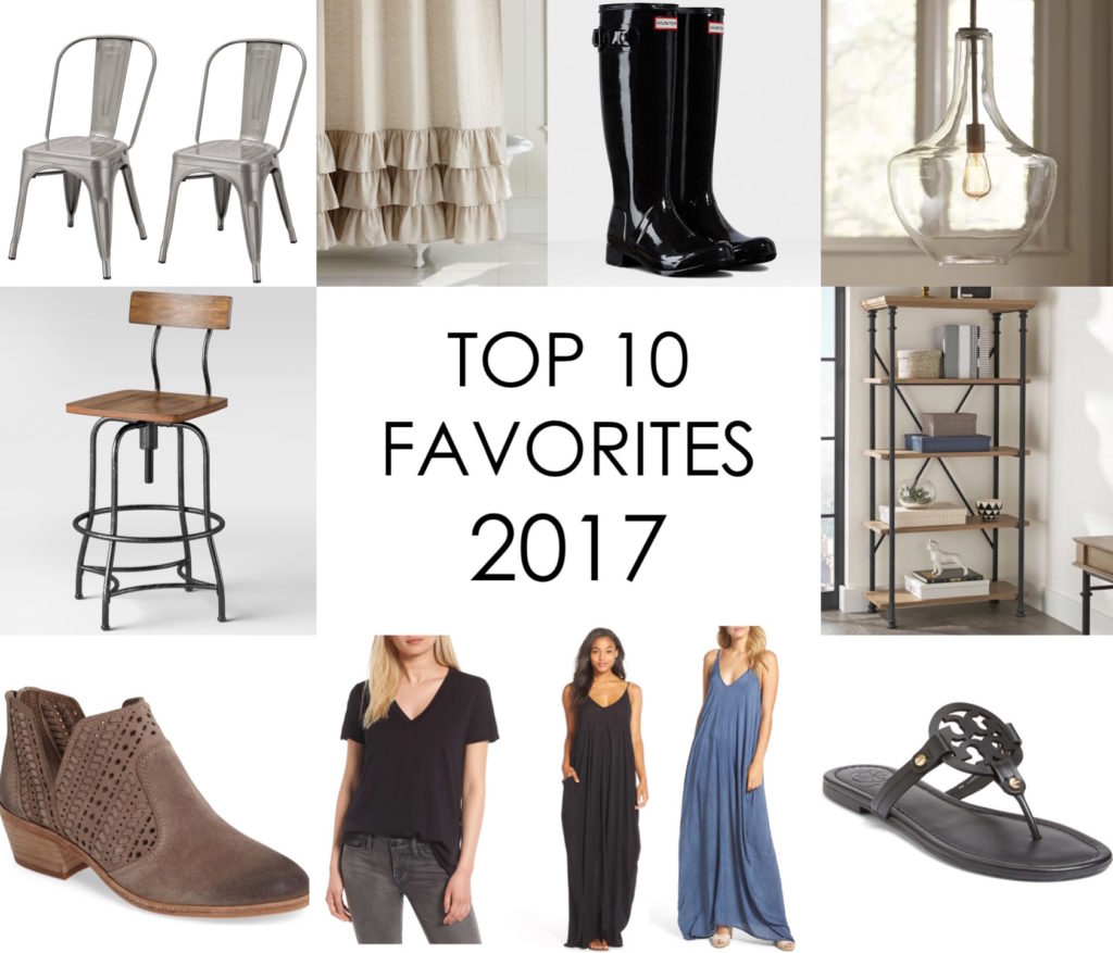 TOP 10 FAVORITE ITEMS from 2017