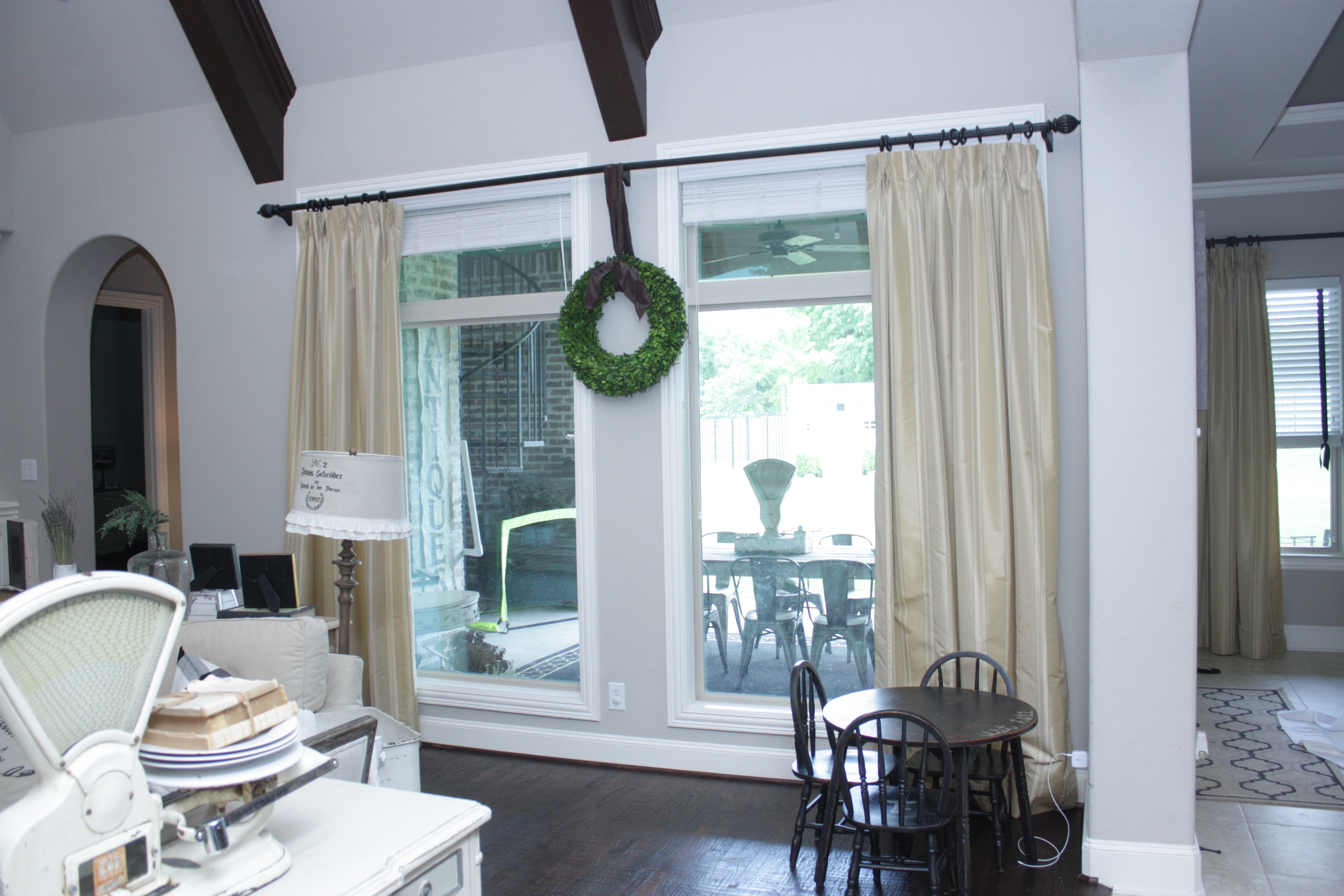 New White Faux Linen Drapes - House of Hargrove