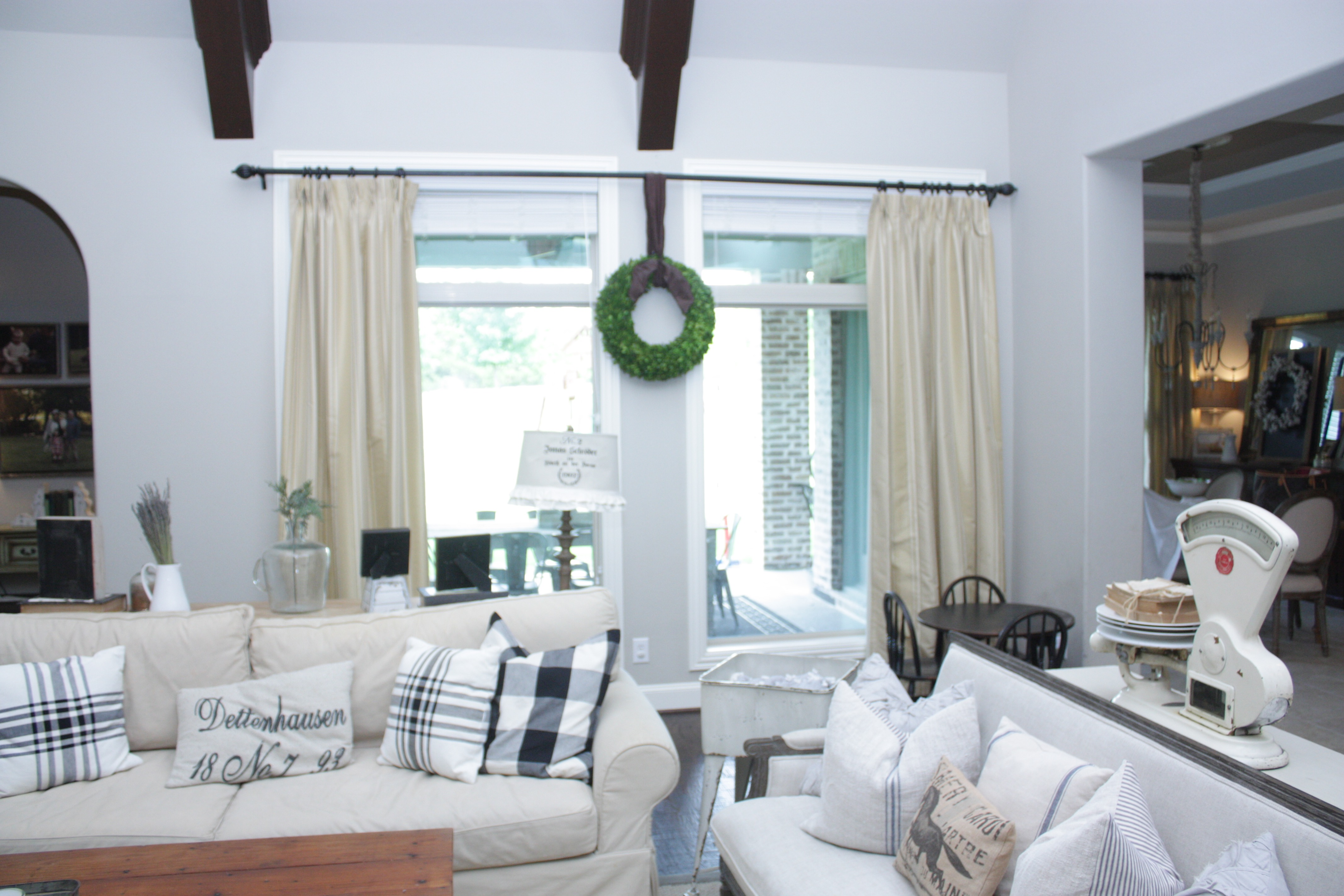 New White Faux Linen Drapes House Of Hargrove
