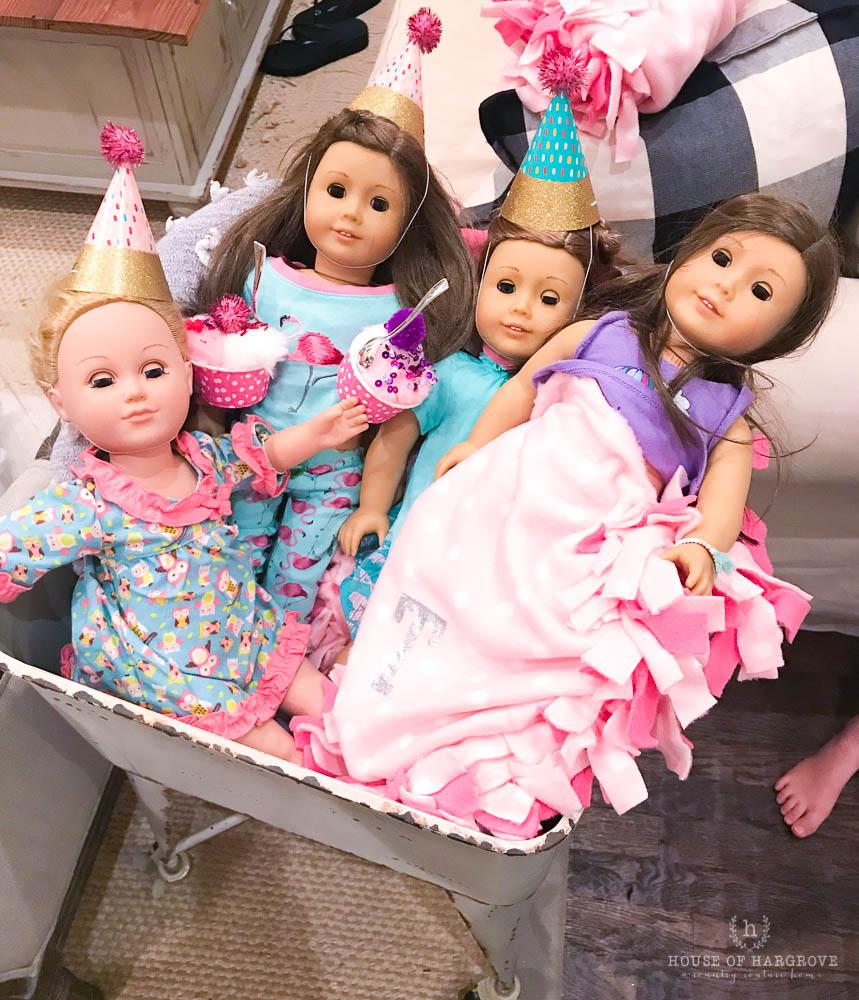 Fantastic American Girl Doll Birthday Party Averys 7Th Birthday House Of Birthday Cards Printable Opercafe Filternl